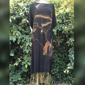 Vintage Nefertiti Kaftan Muumuu